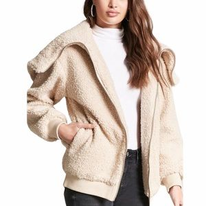 NWT Forever 21 Premium Label Faux Sherpa C…